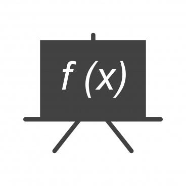 formula glyph black icon