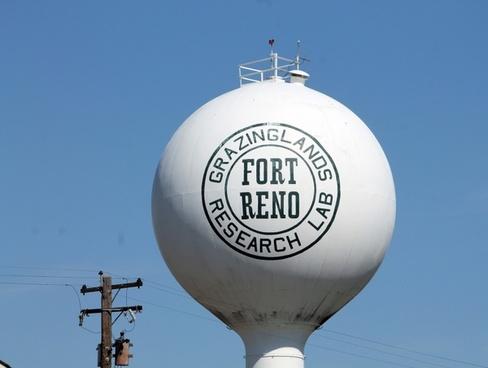 fort reno oklahoma water tower