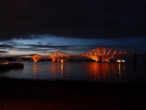 forth road railway bridge scotland route