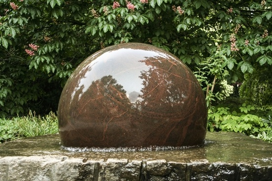 fountain decorative fountains stone ball