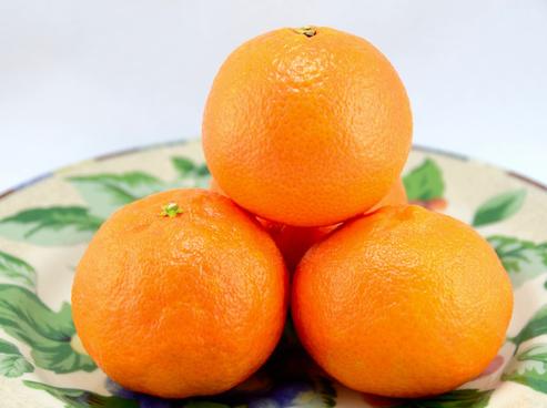 four clementine oranges