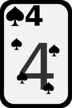 Four Of Spades clip art