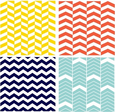 Four Seamless Chevron Patterns