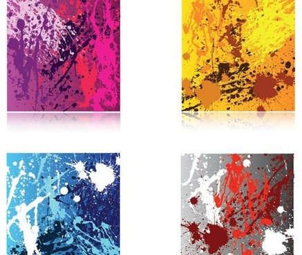 abstract background sets colorful grunge style