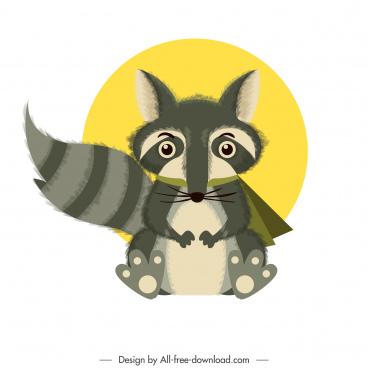 fox icon cute cartoon sketch colored classic design