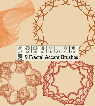 Fractal Accent Brushes