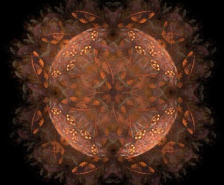 fractal brown orange