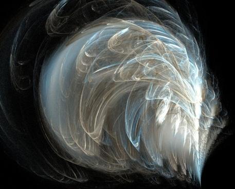 fractal feathery blue