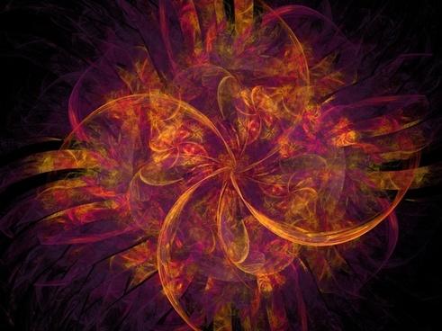 fractal fractals orange