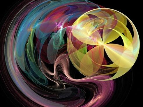 fractal fractals rainbow