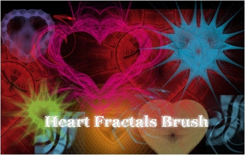 Fractal Heart Brushes for Photoshop