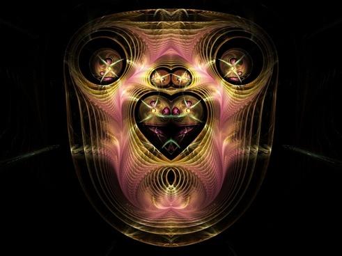 fractal pink gold