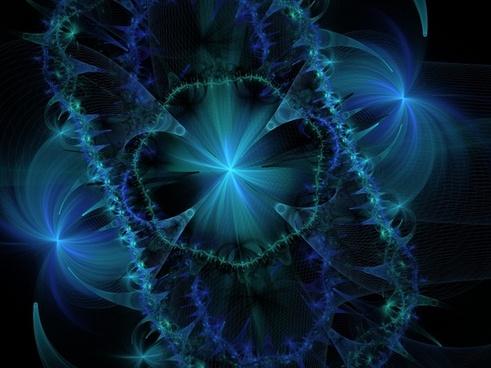 fractals fractal blue