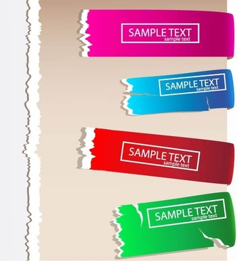 fracture texture color label 03 vector