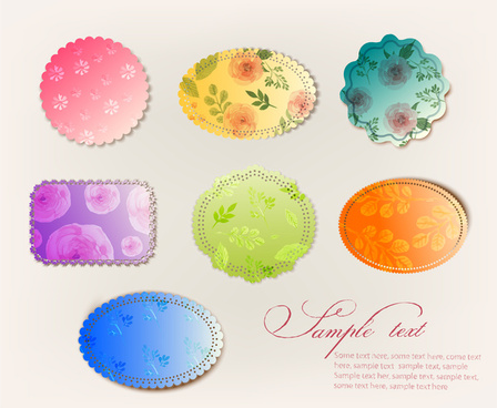 frame and border design with colorful shaped background