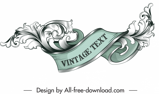 frame design element elegant vintage 3d swirled decor