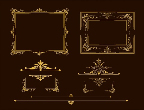 frames design collection various vintage decoration style