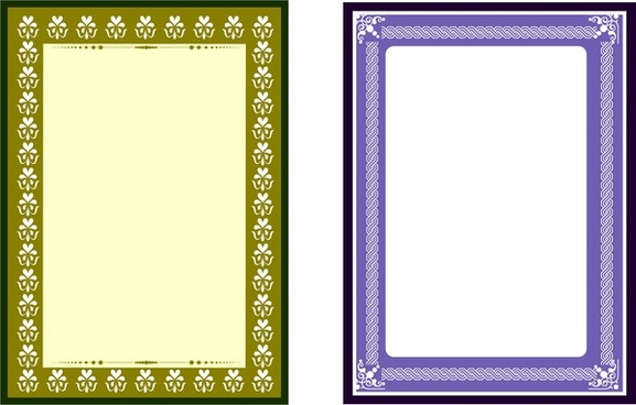 frames design with retro style rectangular shape