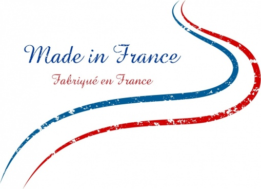 france banner blue red curved lines retro decor