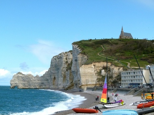 france cliffs sky