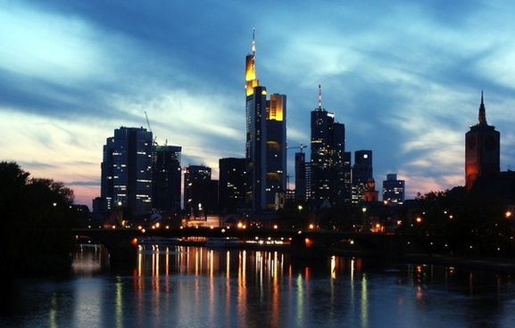 frankfurt germany skyscrapers