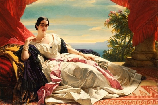 franz winterhalter painting oil on canvas