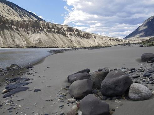 fraser river shoreline sand