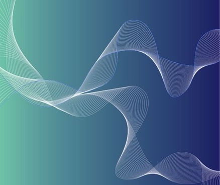 Free Abstract Curves With Blue Background Vector Illustration