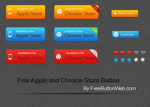free apple and chrome store button