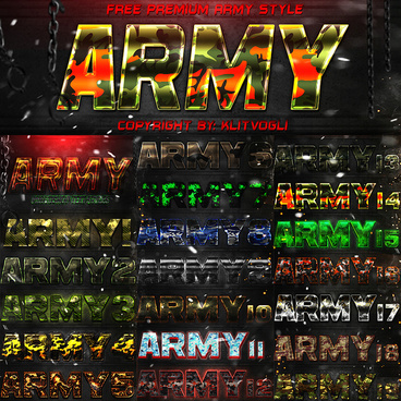 free army text style