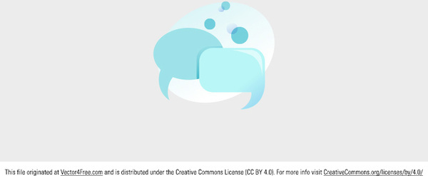 free blue speech bubble communication vector