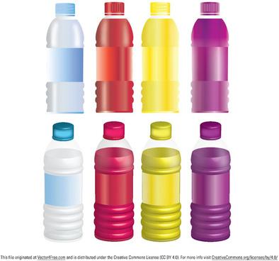 free bottle vector pack