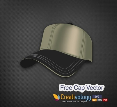 cap design template modern 3d style realistic decor