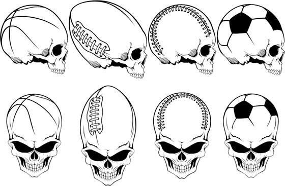free cdr vector sports skulls pack