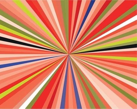 Free Colorful Burst Vector Illustration