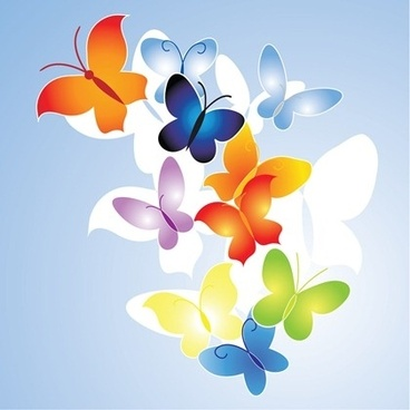 colorful butterflies background seamless white silhouette decoration