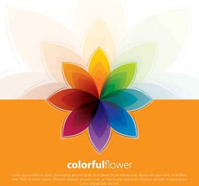 Free colorful vector flowers