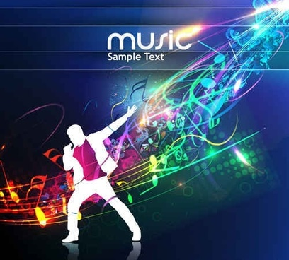 Free Cool music vector templates