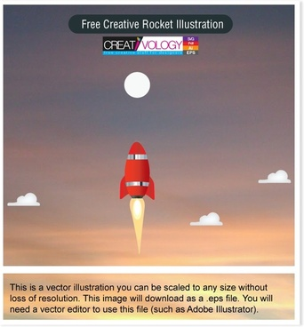 Free Creative Rocket Illustration