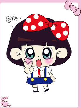 free cute cartoon doll vector
