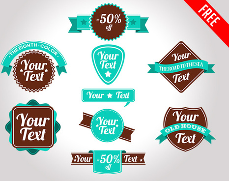 free discount labels and badges in psd
