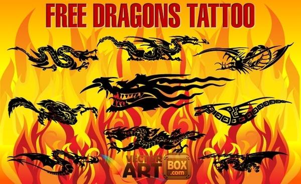 Free Dragons Tattoo