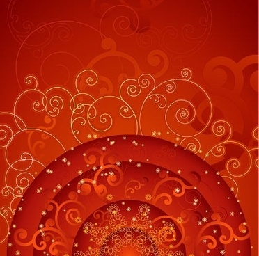 floral pattern background red design curves style
