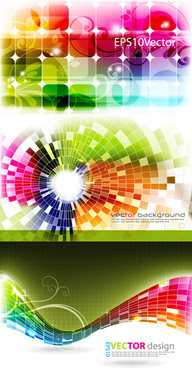 free dynamic effects light color background