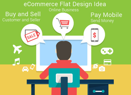 free ecommerce flat design ui ideas