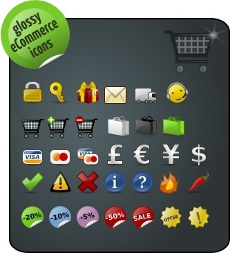 Free eCommerce icons icons pack