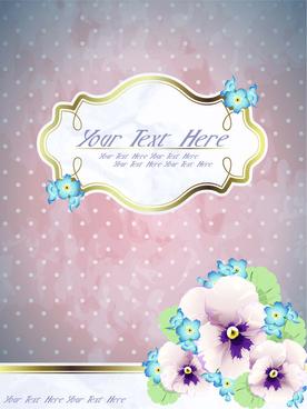 free exquisite romantic cards vector