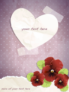 free exquisite romantic cards vector