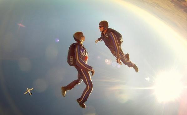 free fall diving sky
