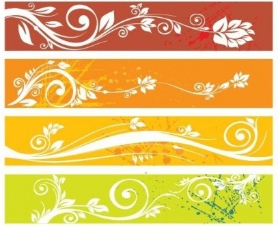 free floral banners graphic vectors